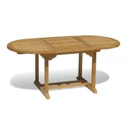 Brompton Narrow Teak Extendable Outdoor Dining Table 120cm-180cm