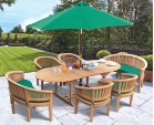 Wimbledon Teak Table, Chairs and Benches Set