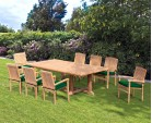 Hilgrove 8 Seater Garden Table and Stacking Chairs Set