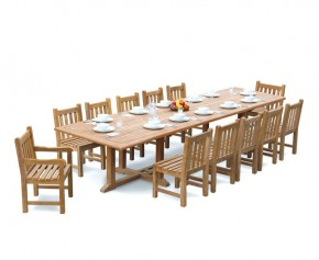 Hilgrove 4m with 2 Windsor Armchairs and 10 Side chairs