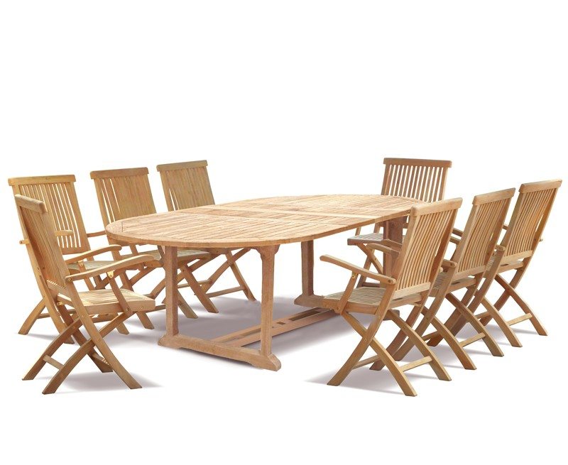 Brompton Outdoor 8 Seater Extending Dining Set With
