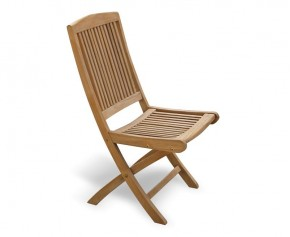 Rimini Teak Garden Folding Chair - Garden Chairs