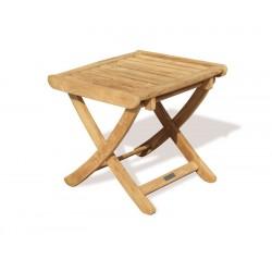 Cheltenham Teak Adjustable Footstool | Outdoor Side Table - Medium