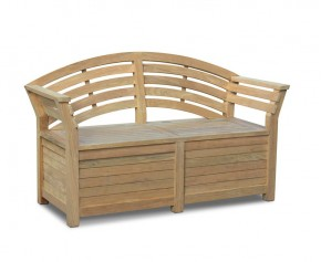 Salisbury Garden Storage Bench with arms – 1.65m