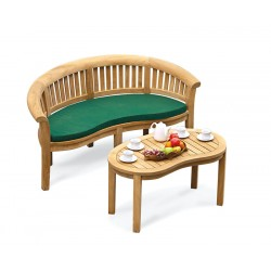 Deluxe Teak bench with Coffee Table