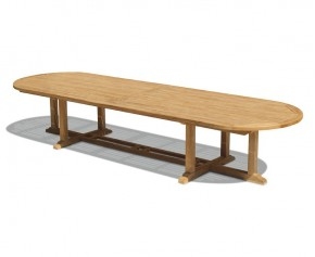 Hilgrove Teak Extra Large Oval Table - 4m - Oval Garden Tables