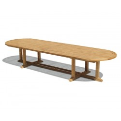 Hilgrove Teak Extra Large Oval Table - 4m