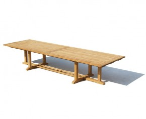 Hilgrove Teak Extra Large Rectangular Table - 4m - Rectangular Tables