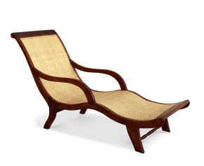Capri Rattan Teak Lounger - Indoor Chairs
