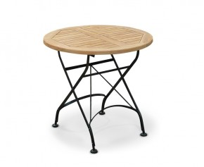 Bistro Folding Table - 80cm | Teak Wood - Round Tables