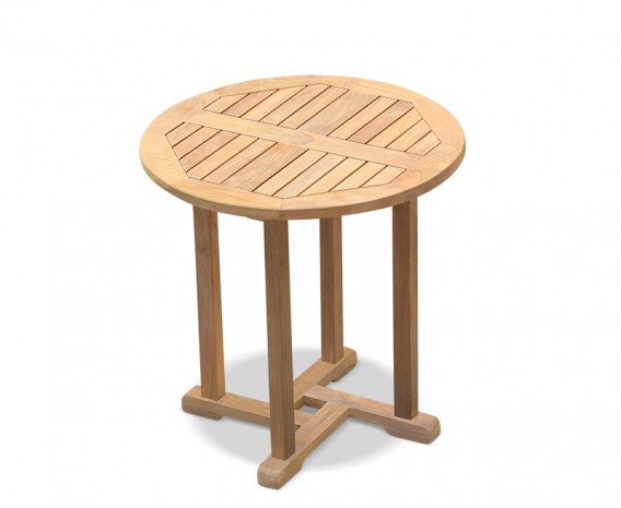 Canfield Teak Wooden Round Garden Table - 75cm