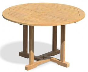 Canfield Garden Round Teak Table - 120cm - Round Tables