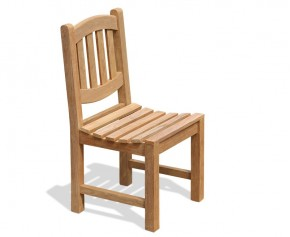 Ascot Outdoor Teak Dining / Side Chair - Teak Garden Chairs