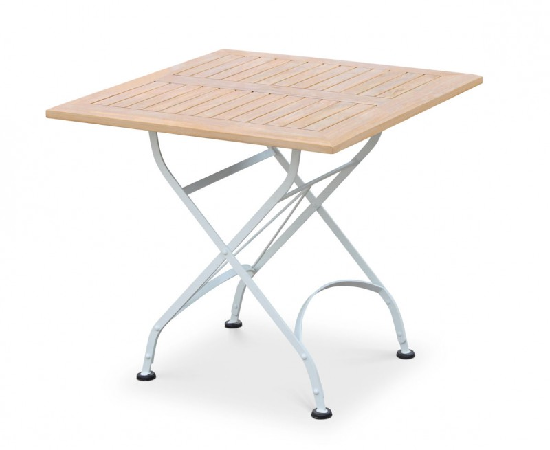 Bistro 2 Seater Folding Square Furniture Set White