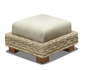 Water Hyacinth Seagrass Ottoman Footstool - Woven Furniture