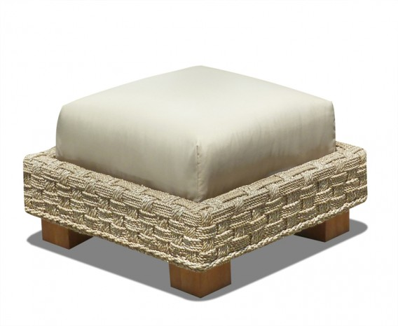Water Hyacinth Seagrass Ottoman Footstool