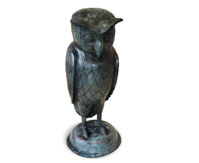 Large Owl Garden Ornament Brass Outdoor Statue Owl