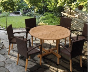 St Tropez Rattan 6 Seater Dining Set - Rattan Dining Sets