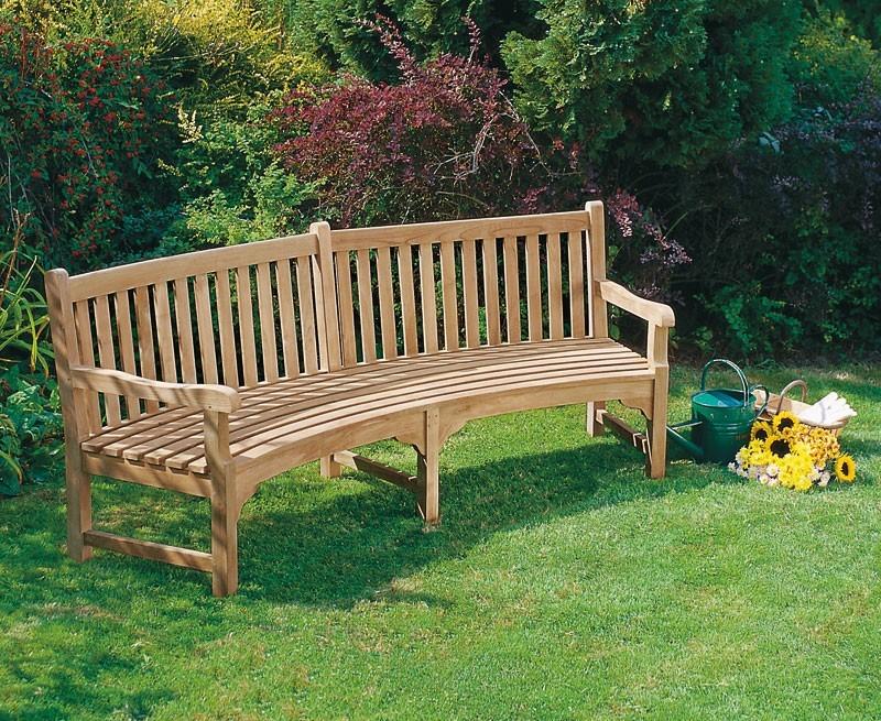 Connaught Teak Curved Garden Bench Teak Park Bench 2 2m