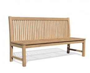 Canterbury Outdoor Armless Bench with back, Teak – 1.8m