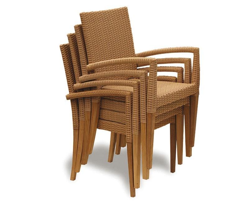 tropez rattan garden stacking chair