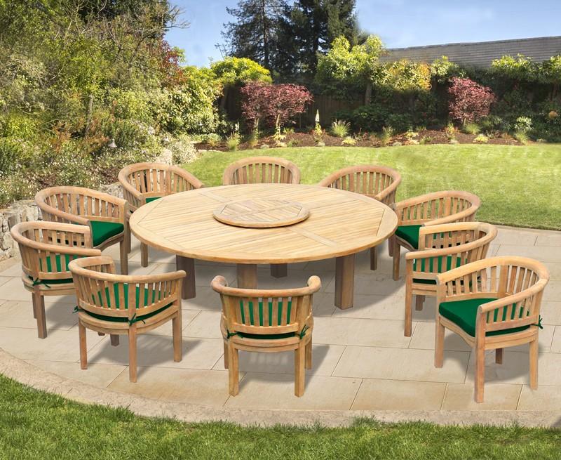 10 Seater Garden Furniture Set Titan Round 2 2m Table