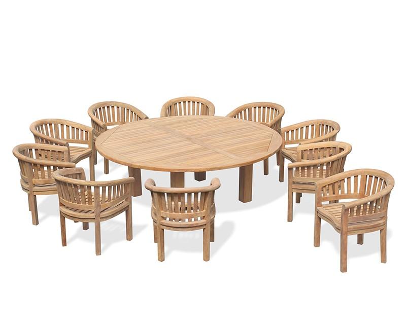 10 seater garden furniture set titan round table. Black Bedroom Furniture Sets. Home Design Ideas