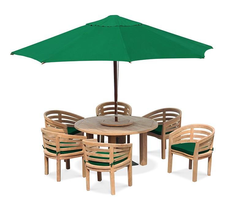 6 Seater Patio Set, Titan Round 1.5m Table with Kensington ...