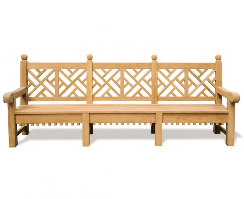 Chiswick teak chinese chippendale bench decorative garden bench Decorative benches