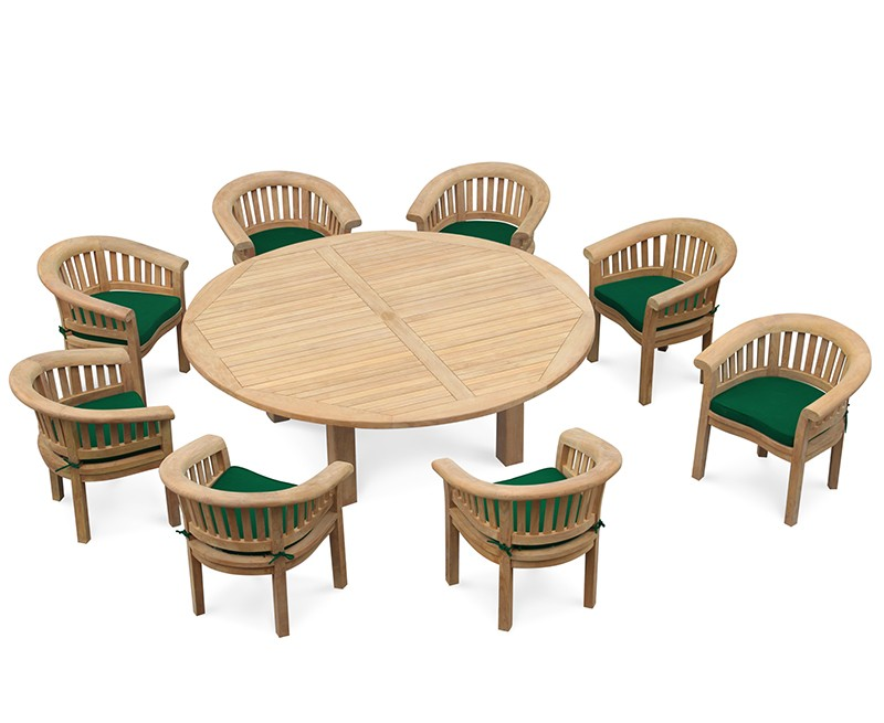 Large Patio Dining Set Titan Round 2 2m Table With 8