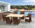 6 Seater Outdoor Dining Set with Cadogan 1.8m Table and Riviera Armchairs