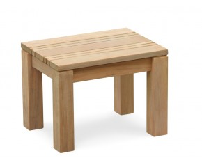 Chichester Rustic Wooden Stool, Teak Shower Seat