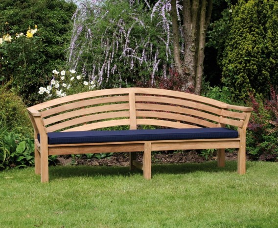 Salisbury Teak Outdoor Wooden Bench - 1.95m