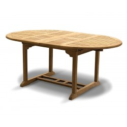 Brompton Teak Double Leaf Extendable Garden Table 120cm - 180cm