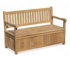 Windsor Teak 5ft Garden Storage Bench with Arms