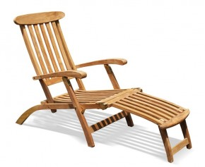 Teak Steamer Chair - Padded Sun Loungers