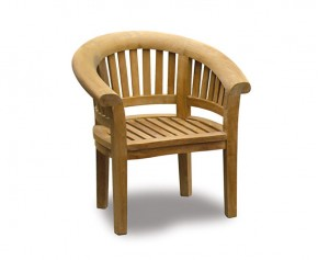 Deluxe Teak Banana Chair - Teak Garden Chairs