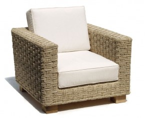 Seagrass Water Hyacinth Armchair - Patio Chairs