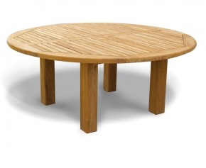 Titan NEW Teak Garden Circular Dining Table - 1.8m - 8 Seater Dining Tables