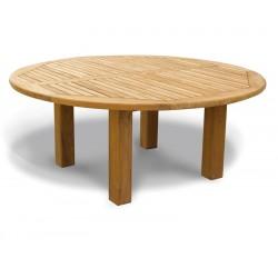 Titan NEW Teak Garden Circular Dining Table - 1.8m