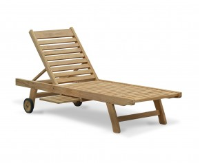 Wooden Sun Lounger, Reclining, Teak