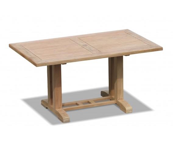 Cadogan Rectangular Patio Table, Pedestal Garden Table - 1.5m