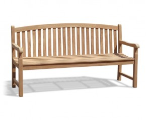Clivedon Teak 4 Seater Garden Bench - Memorial Benches