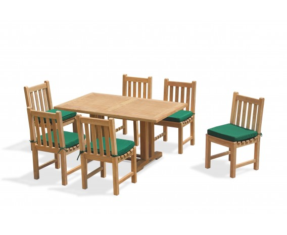 Cadogan 6 Seater Garden Table 1.5m & Windsor Side Chairs