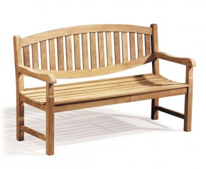 Ascot Teak 3 Seater Garden Bench  - 5ft Garden Benches