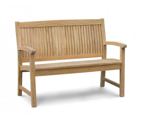 Bali 2 Seater Teak Garden Bench - 1.2m