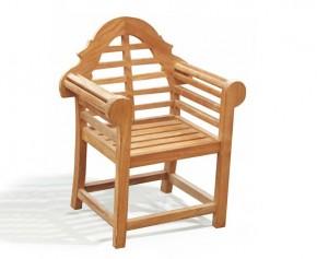 Lutyens-Style Children's Garden Teak Armchair