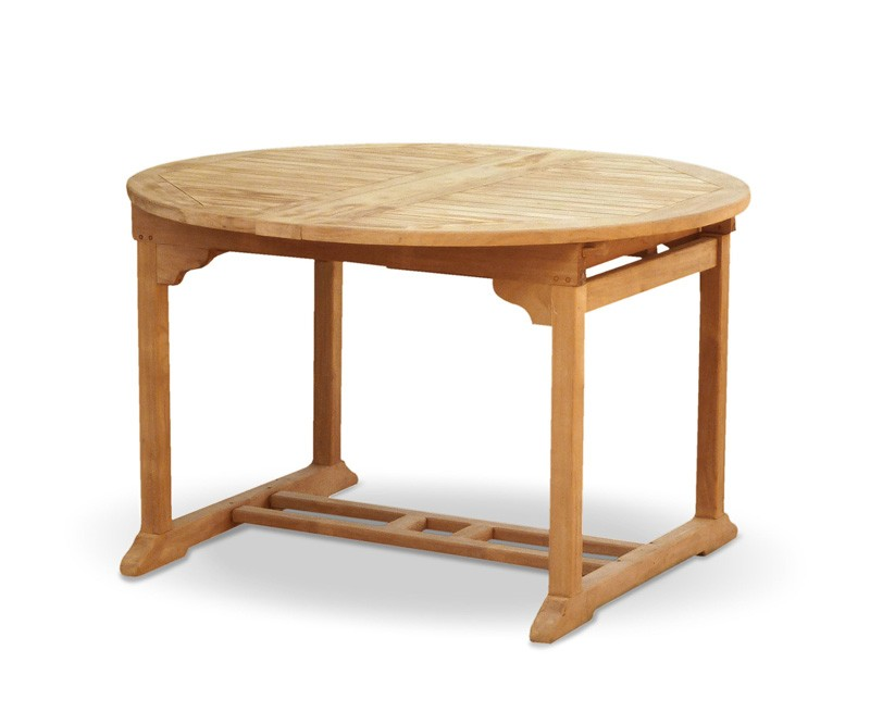 Brompton Bali Teak Oval Extending Table And 6 Folding Chairs