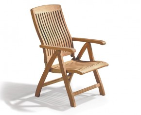 Bali Teak Outdoor Recliner Chair - Teak Sun Loungers