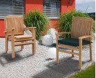 6 Seater Patio Set with Cadogan Pedestal Table 1.5m & Bali Stacking Chairs